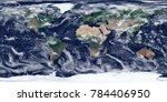high resolution satellite image ... | Shutterstock . vector #784406950