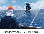 engineer team working on... | Shutterstock . vector #784408003