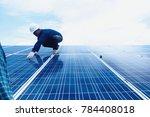 engineer team working on... | Shutterstock . vector #784408018