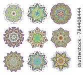 mandala set. abstract...   Shutterstock .eps vector #784408444