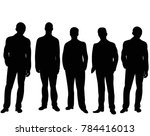 isolated silhouette of a man... | Shutterstock .eps vector #784416013
