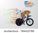 visual drawing bike fast of... | Shutterstock .eps vector #784423780