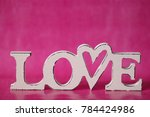 hearts on pink background... | Shutterstock . vector #784424986
