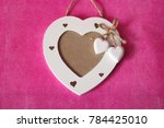 hearts on pink background... | Shutterstock . vector #784425010
