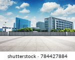 modern business building with... | Shutterstock . vector #784427884