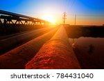 oil pipeline  industrial... | Shutterstock . vector #784431040