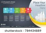 business infographics template  ... | Shutterstock .eps vector #784434889