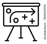 a presentation stand board ... | Shutterstock .eps vector #784442554