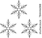 snowflake calligraphic  snow ... | Shutterstock . vector #784446088