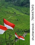 Indonesian Flags Are Wave In...