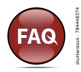 faq icon .internet button.3d... | Shutterstock . vector #784448374