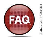 faq icon .internet button.3d...   Shutterstock . vector #784448374