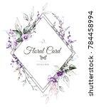 vintage card  watercolor... | Shutterstock . vector #784458994