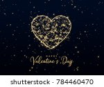heart shape made with sparkles... | Shutterstock .eps vector #784460470