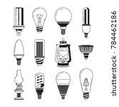 monochrome symbols of light.... | Shutterstock . vector #784462186