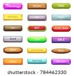 cartoon buttons for web market... | Shutterstock . vector #784462330
