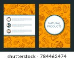 doodle handdrawn fruits and... | Shutterstock . vector #784462474