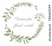 Floral Wreath. Botanical...