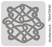 monochrome icon with celtic art ... | Shutterstock .eps vector #784470940
