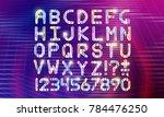 retro vintage 80s or 90s... | Shutterstock .eps vector #784476250