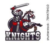 knights riding horse | Shutterstock .eps vector #784478410