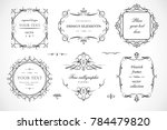 set of flourish frames  borders ... | Shutterstock .eps vector #784479820
