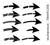 collection silhouette of arrow...   Shutterstock .eps vector #784491358