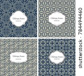 set of  geometric patterns with ... | Shutterstock . vector #784494460