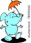 umbrella little elephant | Shutterstock .eps vector #78450262