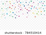many falling colorful tiny... | Shutterstock .eps vector #784510414