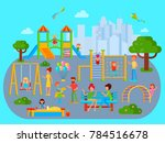 playground composition with... | Shutterstock . vector #784516678