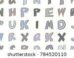 artistic alphabets letters... | Shutterstock .eps vector #784520110