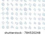 illustrations of alphabets... | Shutterstock .eps vector #784520248