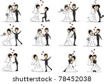 cartoon wedding pictures | Shutterstock .eps vector #78452038
