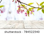 top of wood table empty ready... | Shutterstock . vector #784522540