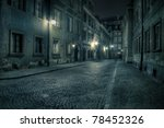 warsaw  old town by night   Shutterstock . vector #78452326