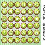 gui button round color green...