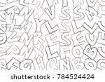 abstract alphabets letters.... | Shutterstock .eps vector #784524424