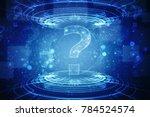 2d illustration question mark   Shutterstock . vector #784524574