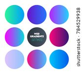 web linear gradients round set...
