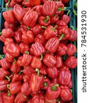red bell peppers.natural... | Shutterstock . vector #784531930