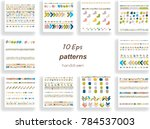 brush strokes colorful patterns ... | Shutterstock .eps vector #784537003