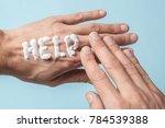 the word help is written in... | Shutterstock . vector #784539388