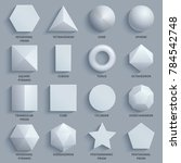 top view realistic white math... | Shutterstock . vector #784542748