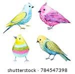 cute watercolor set colorful... | Shutterstock . vector #784547398