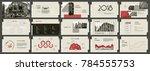 vintage presentation templates. ... | Shutterstock .eps vector #784555753