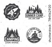 set of kayak  camping and... | Shutterstock .eps vector #784562920