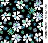 small floral pattern. cute... | Shutterstock .eps vector #784564720