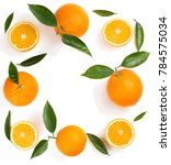 composition of oranges and... | Shutterstock . vector #784575034