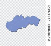 slovakia map   high detailed... | Shutterstock .eps vector #784576504